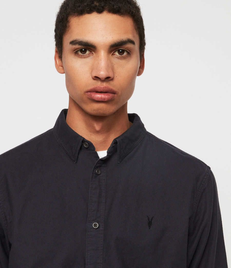 Men's Huntingdon Long Sleeve Shirt (black) - Image 2