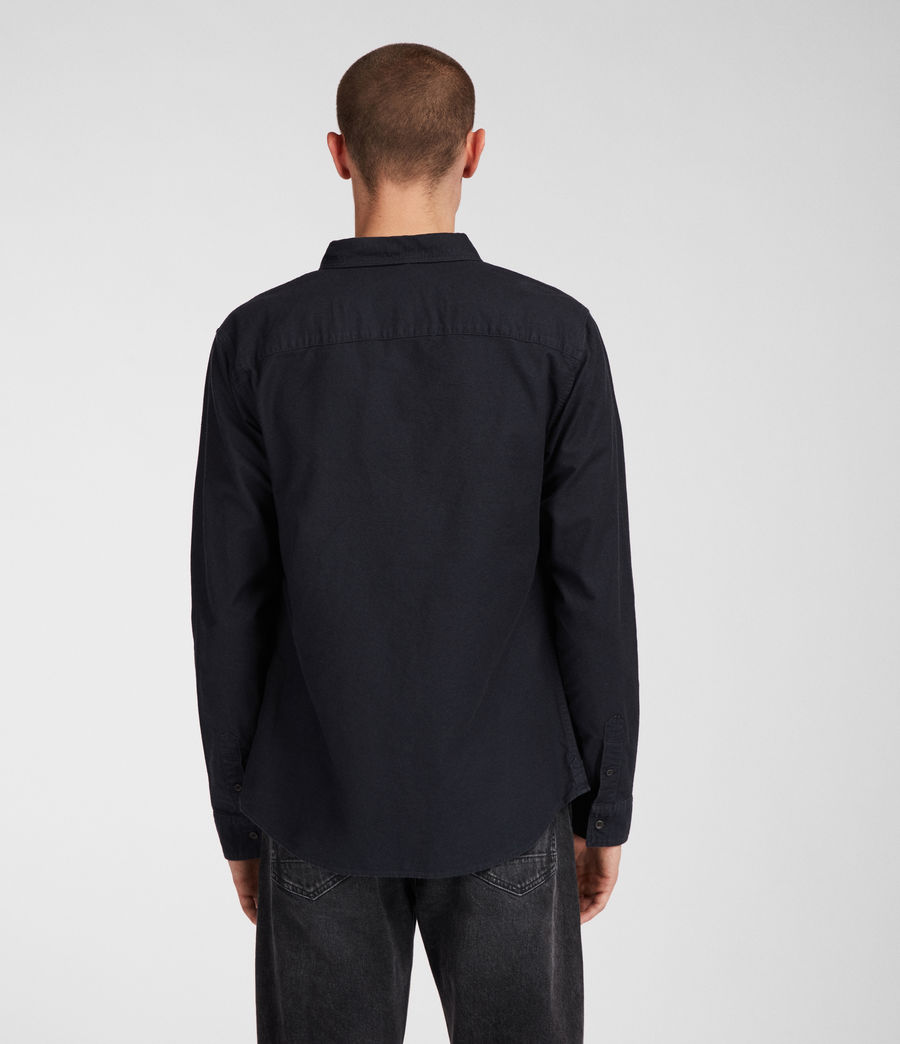 Mens Huntingdon Long Sleeve Shirt (ink_navy) - Image 6