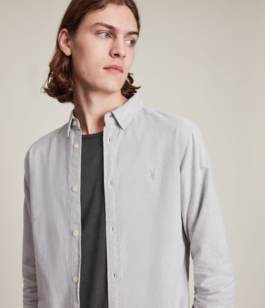 Mens Huntingdon Long Sleeve Shirt (dark_gull_grey) - Image 2