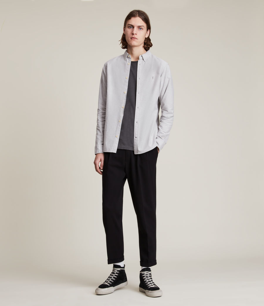 Mens Huntingdon Long Sleeve Shirt (dark_gull_grey) - Image 3