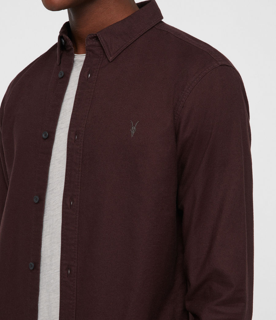 Uomo Hungtingdon Shirt (oxblood_red) - Image 2