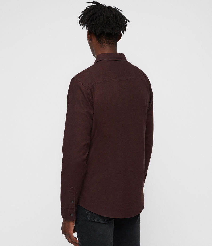 Uomo Hungtingdon Shirt (oxblood_red) - Image 4