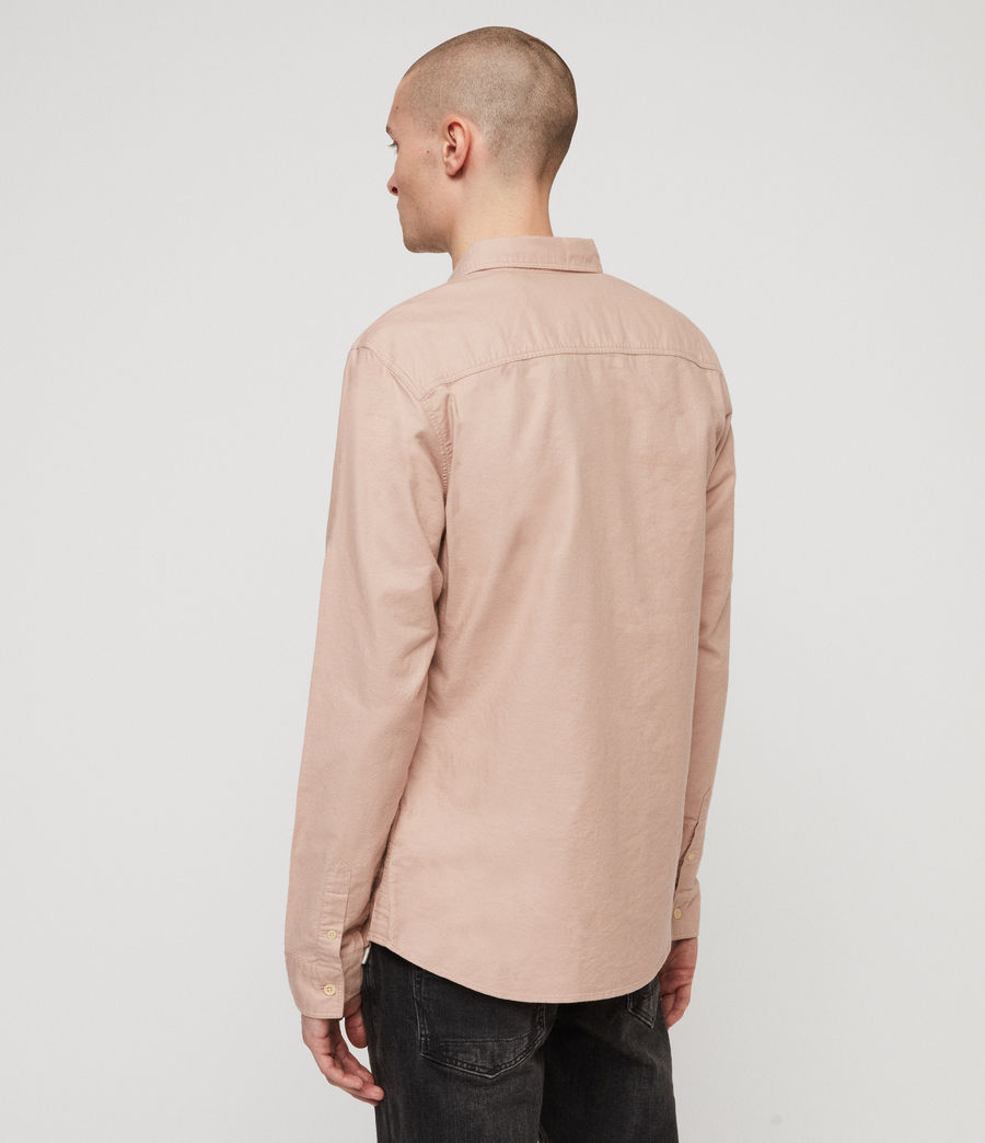 Mens Huntingdon Long Sleeve Shirt (mushroom_pink) - Image 5