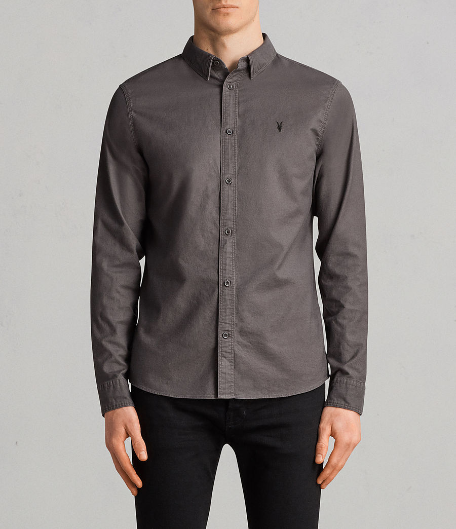 Uomo Camicia Hungtingdon maniche lunghe (heath_grey) - Image 1