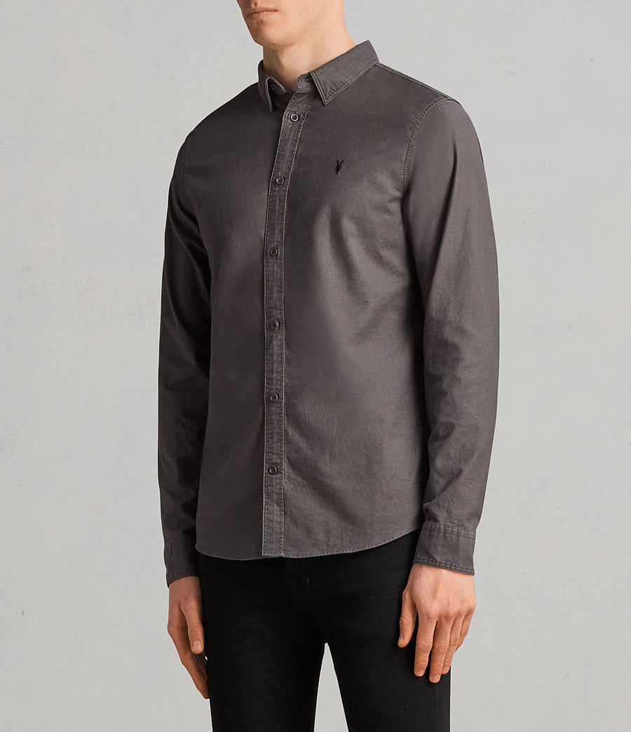 Uomo Camicia Hungtingdon maniche lunghe (heath_grey) - Image 3