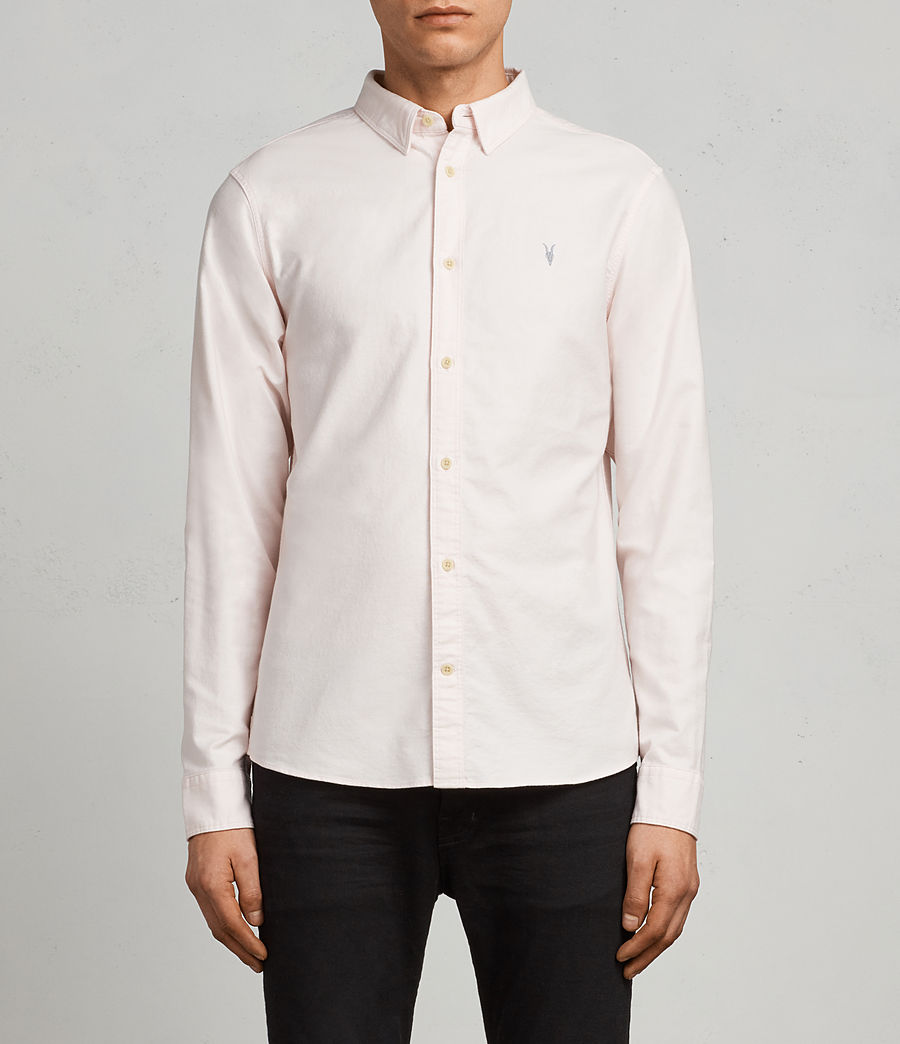 Mens Huntingdon Long Sleeve Shirt (malo_pink) - Image 1