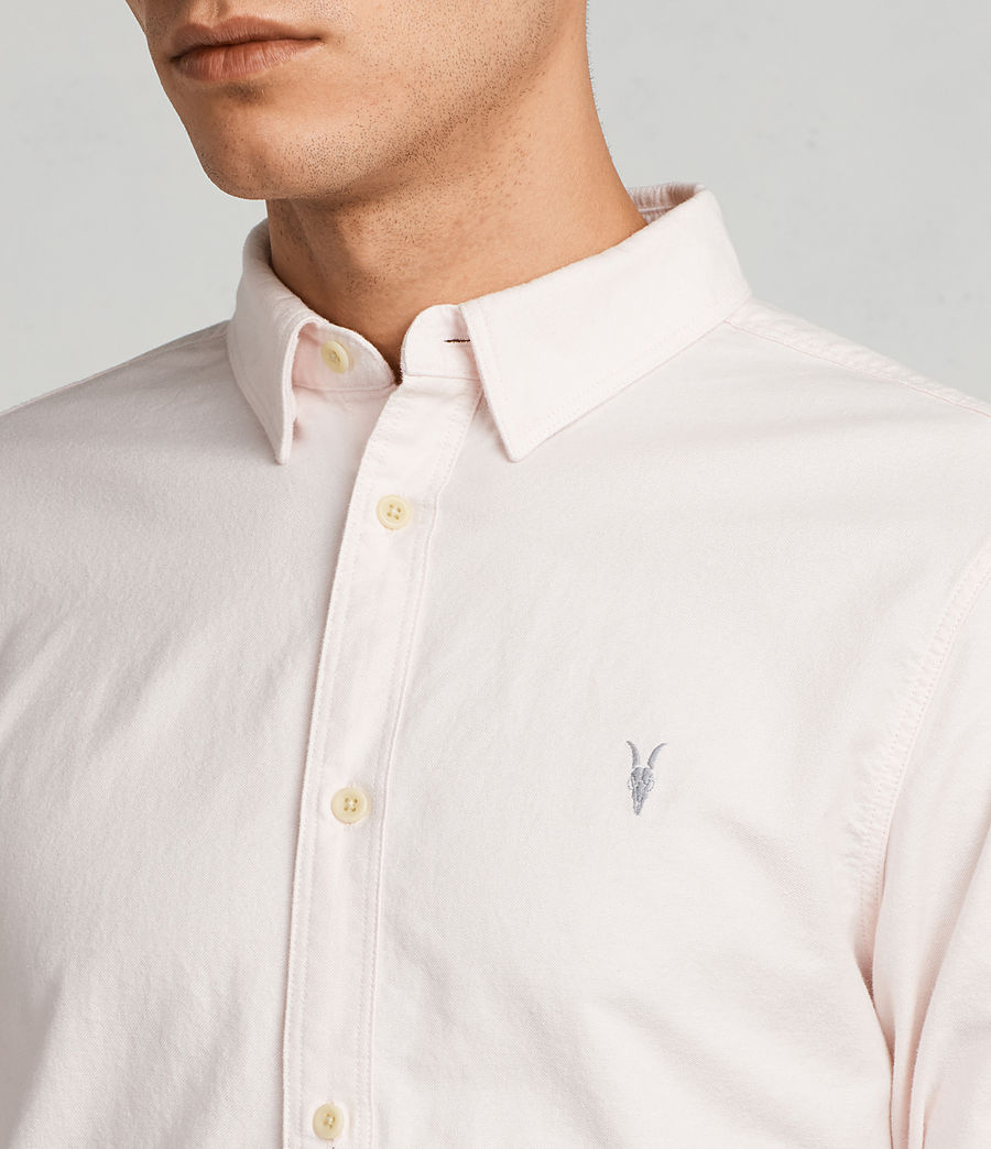 Mens Huntingdon Long Sleeve Shirt (malo_pink) - Image 2