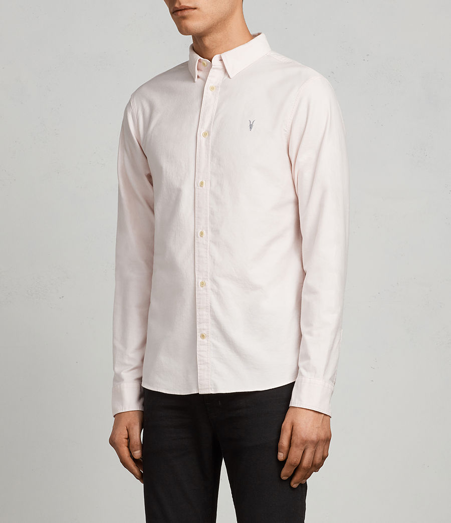 Mens Huntingdon Long Sleeve Shirt (malo_pink) - Image 3