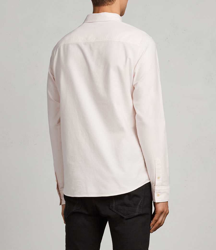 Mens Huntingdon Long Sleeve Shirt (malo_pink) - Image 4