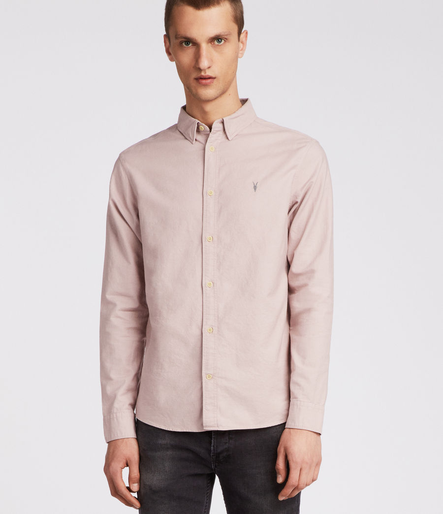 Hombres Huntingdon Long Sleeve Shirt (boca_pink) - Image 1