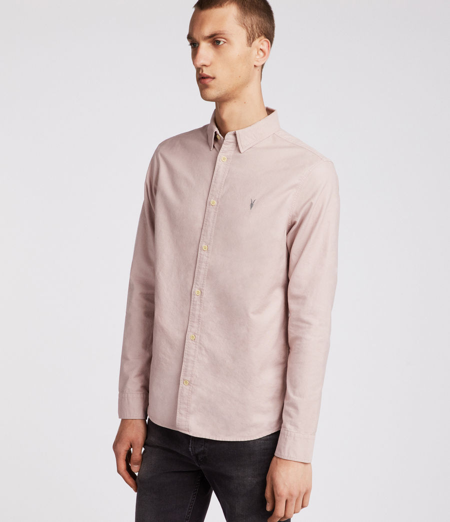 Hombres Huntingdon Long Sleeve Shirt (boca_pink) - Image 2