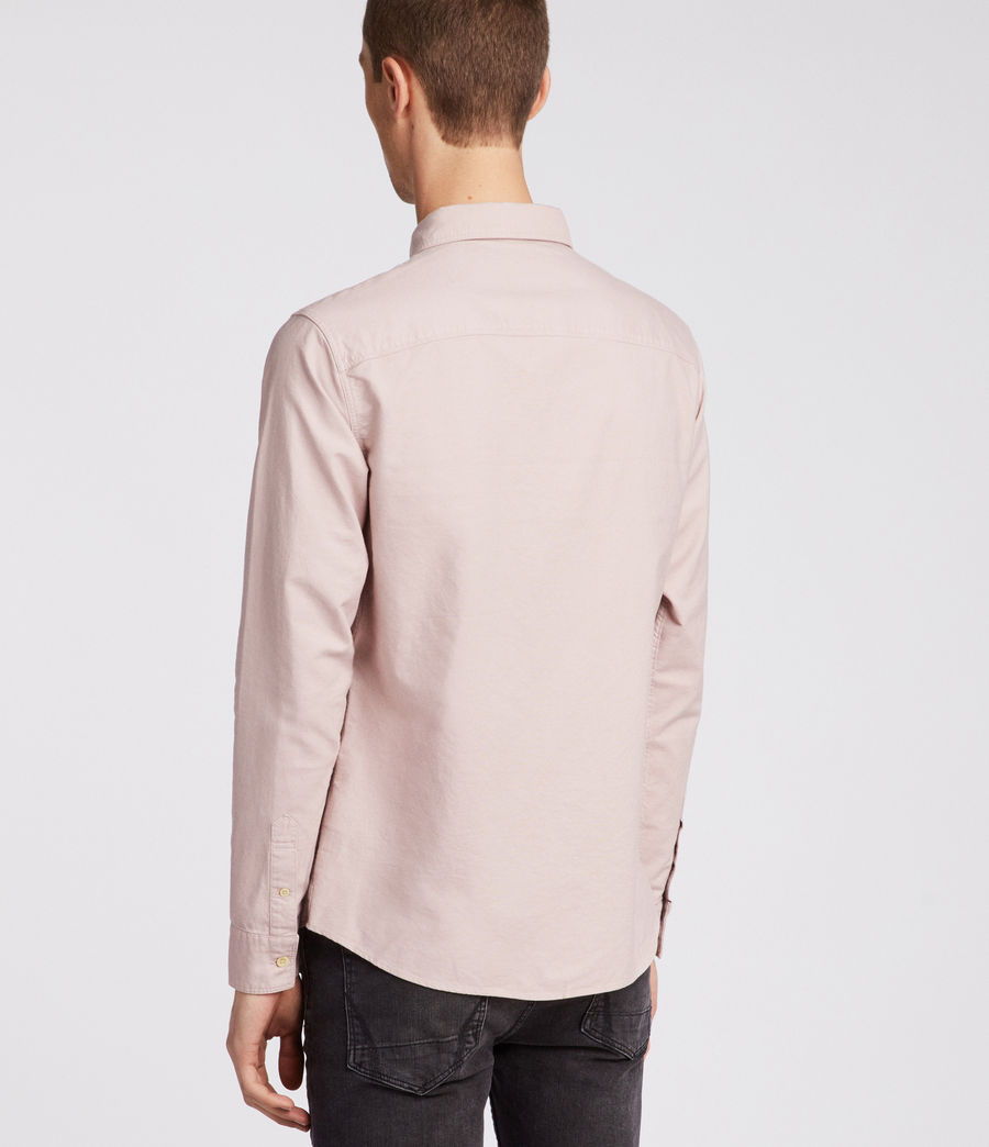 Hombres Huntingdon Long Sleeve Shirt (boca_pink) - Image 3