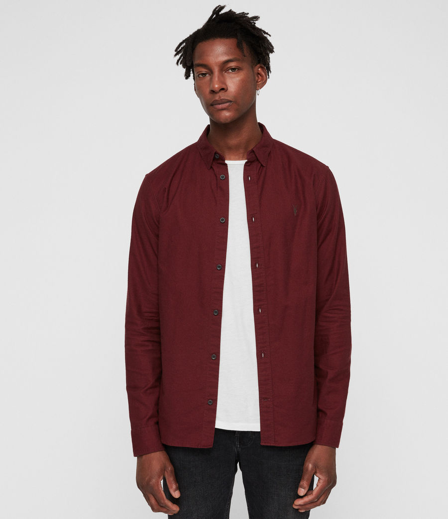 Mens Hungtingdon Shirt (cranberry_red) - Image 1