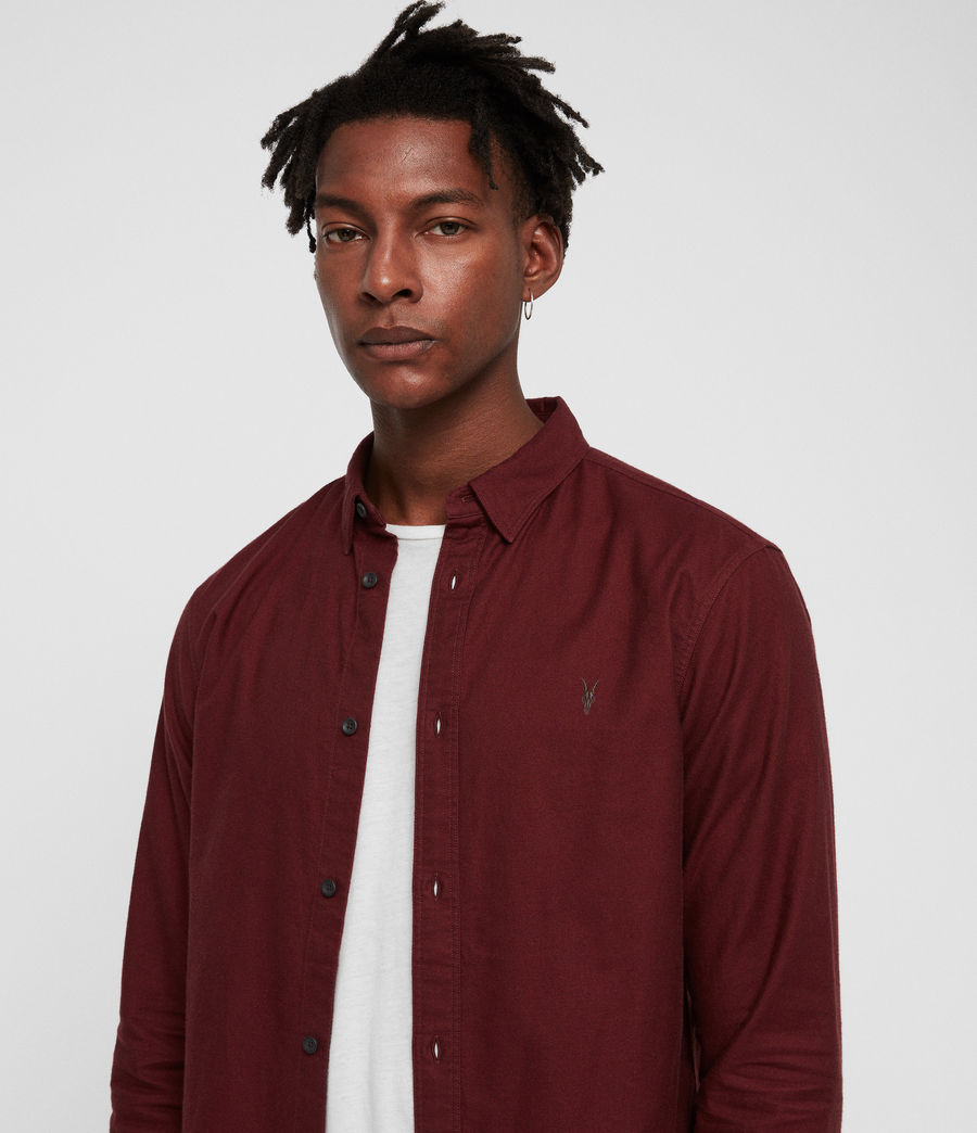 Mens Hungtingdon Shirt (cranberry_red) - Image 2