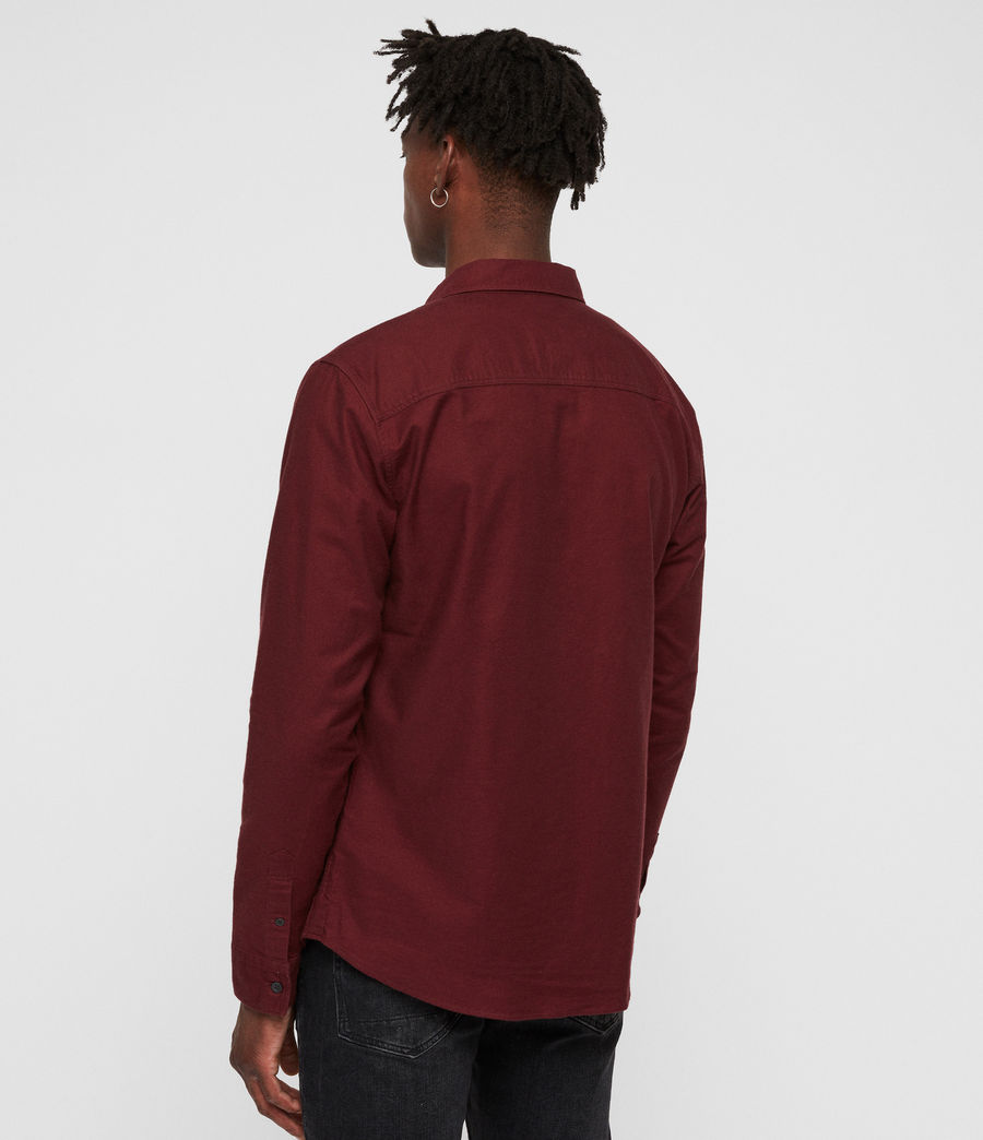 Mens Hungtingdon Shirt (cranberry_red) - Image 4