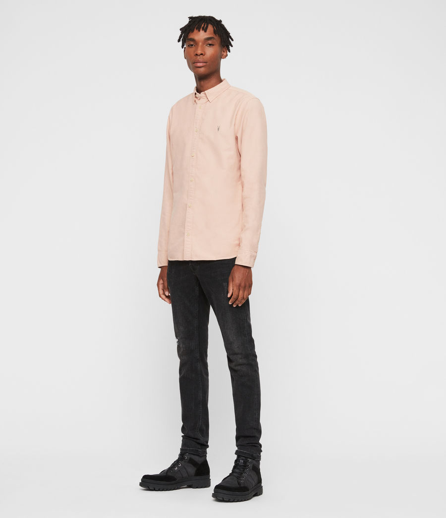 Men's Huntingdon Long Sleeve Shirt (black) - Image 3