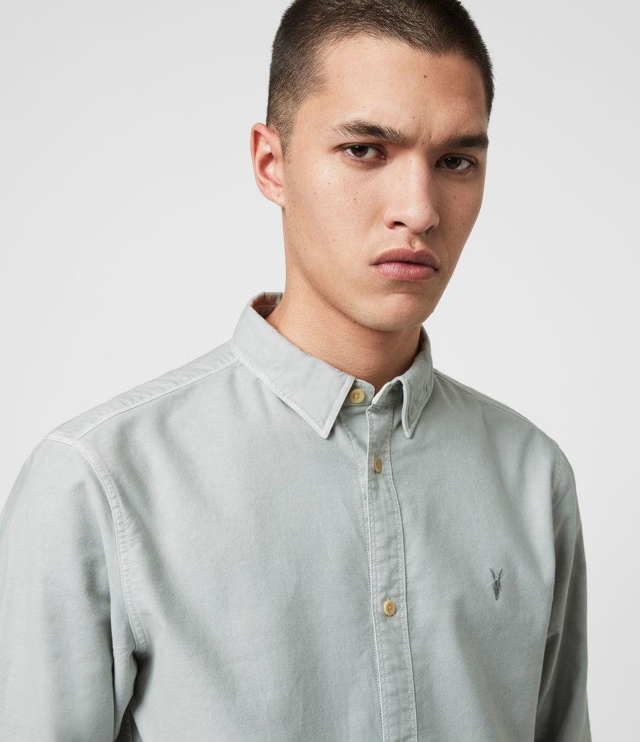 Hombres Camisa de Manga Larga Huntingdon (dark_gull_grey) - Image 2