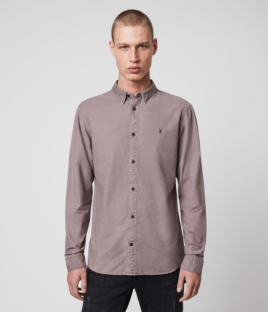 Mens Huntingdon Long Sleeve Shirt (thistle_lilac) - Image 1