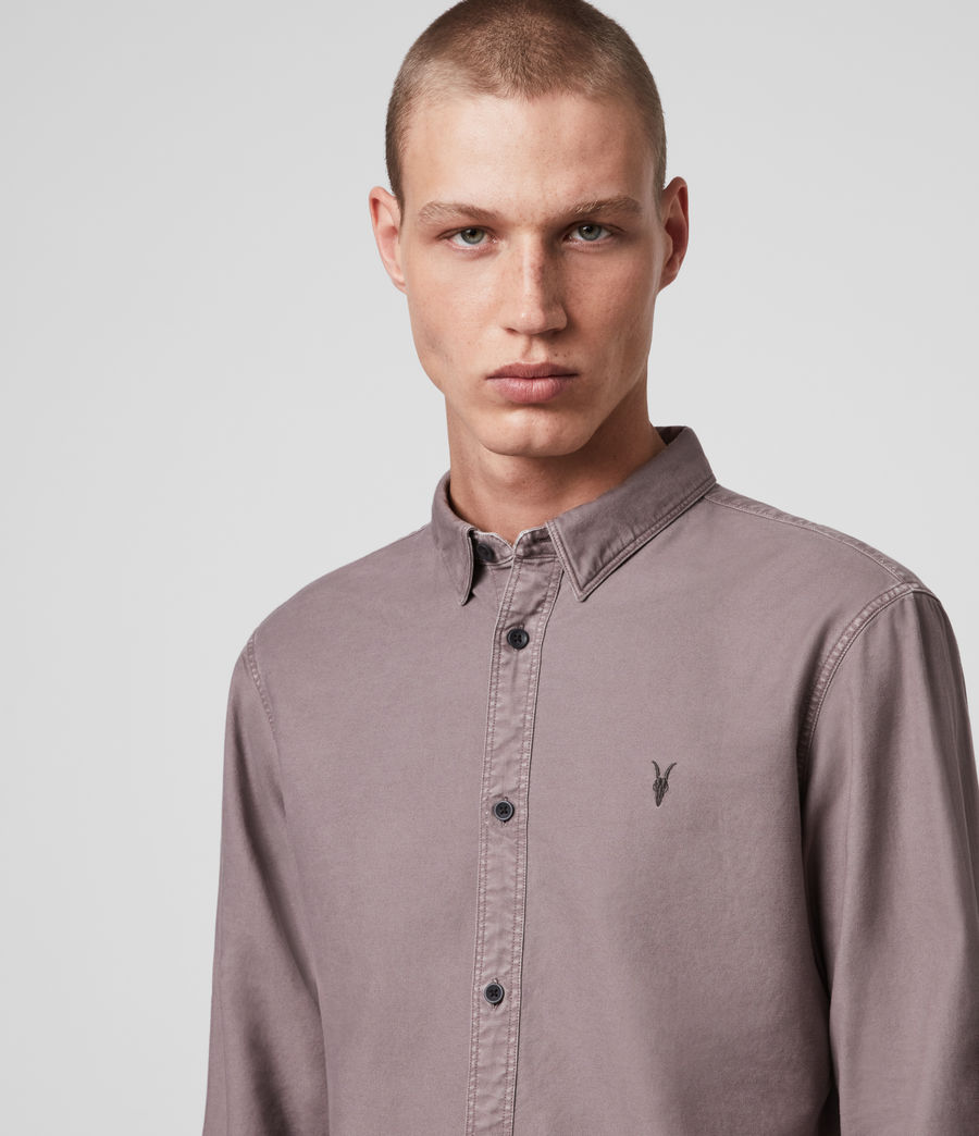 Hombre Huntingdon Long Sleeve Shirt (thistle_lilac) - Image 2