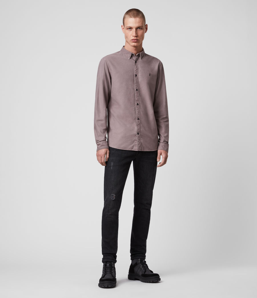 Mens Huntingdon Long Sleeve Shirt (thistle_lilac) - Image 3