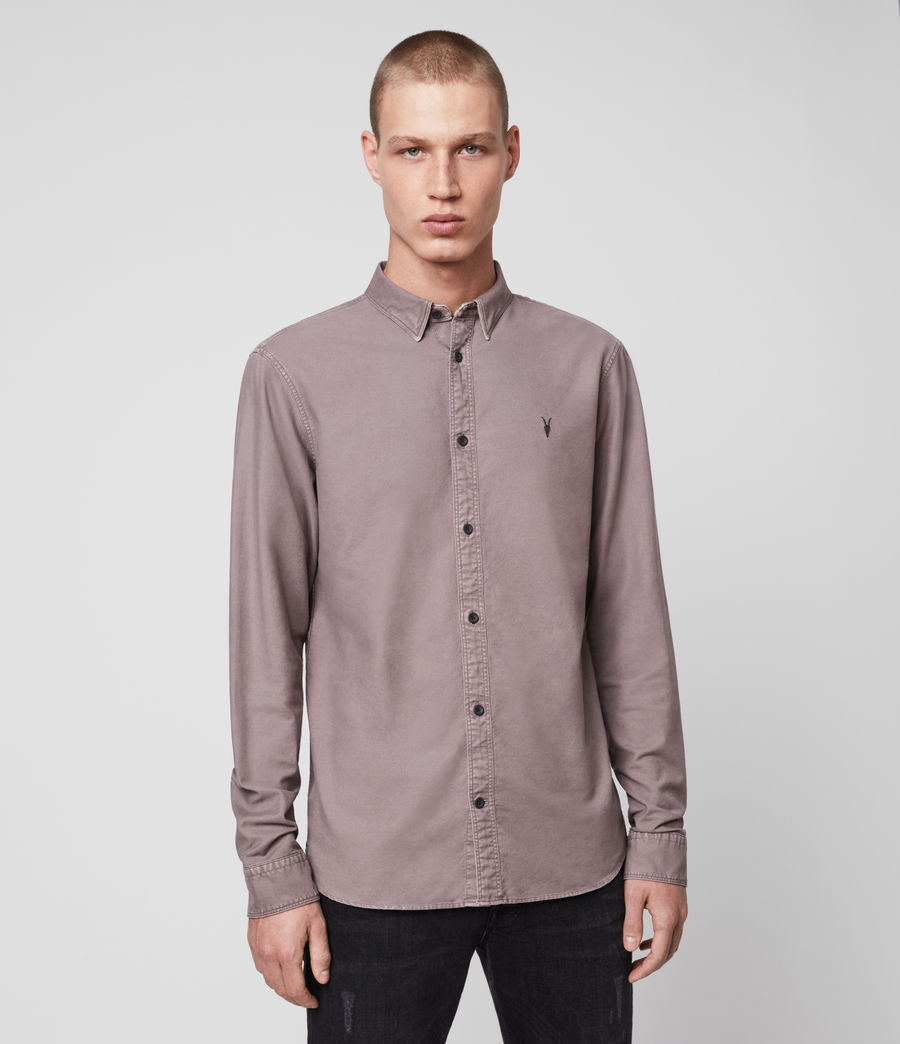 Mens Huntingdon Long Sleeve Shirt (thistle_lilac) - Image 4