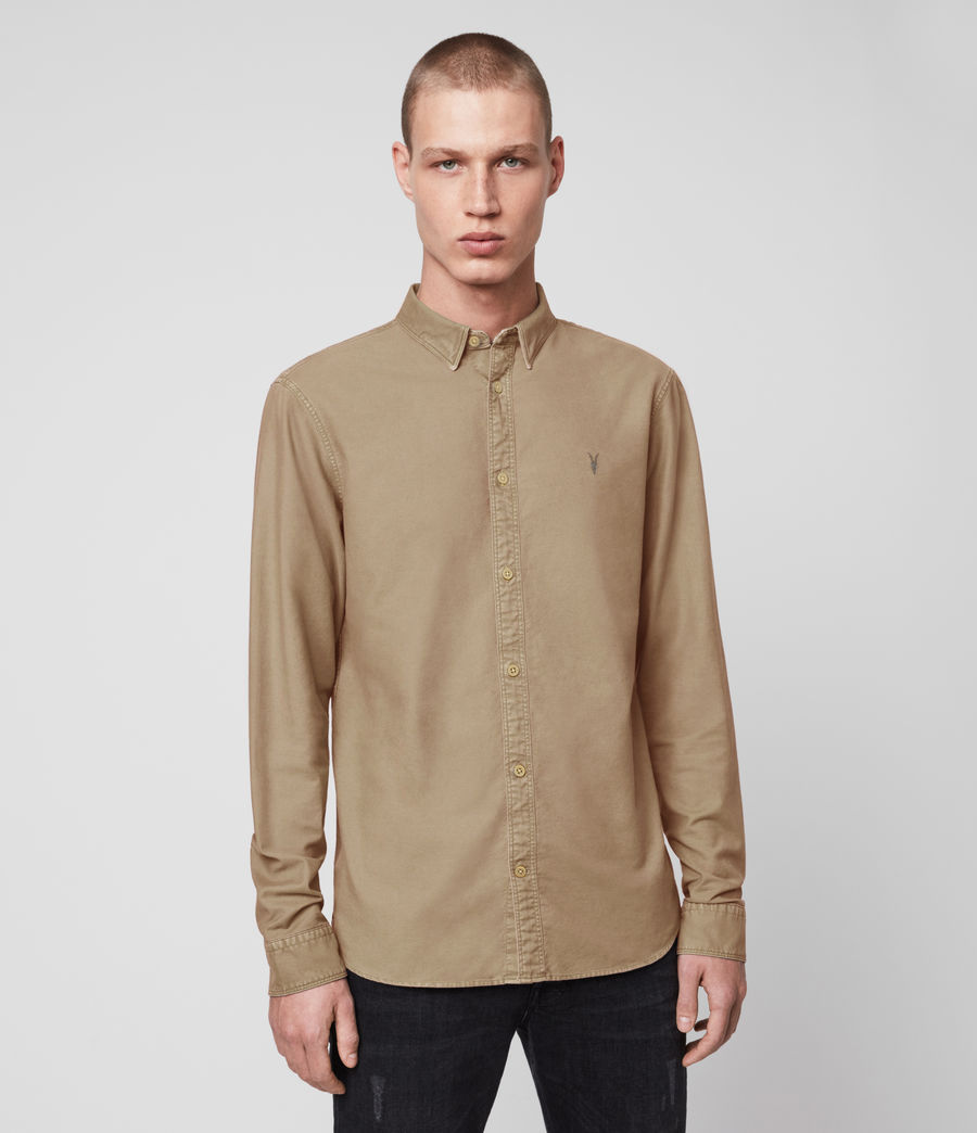 Men's Huntingdon Long Sleeve Shirt (black) - Image 4