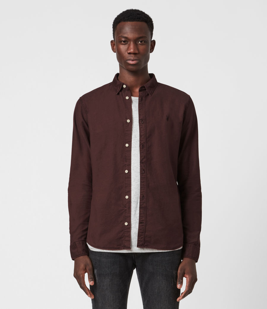 Mens Huntingdon Long Sleeve Shirt (burnt_sienna) - Image 1
