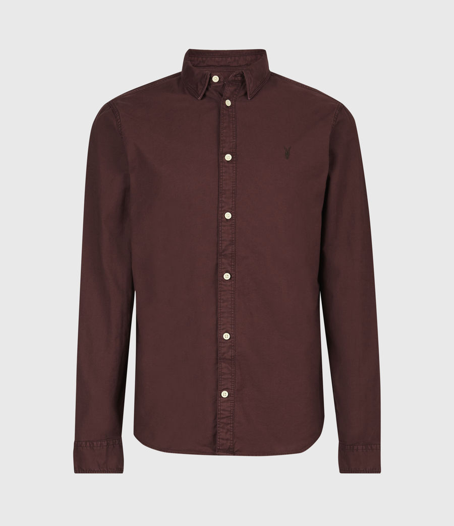 Mens Huntingdon Long Sleeve Shirt (burnt_sienna) - Image 2