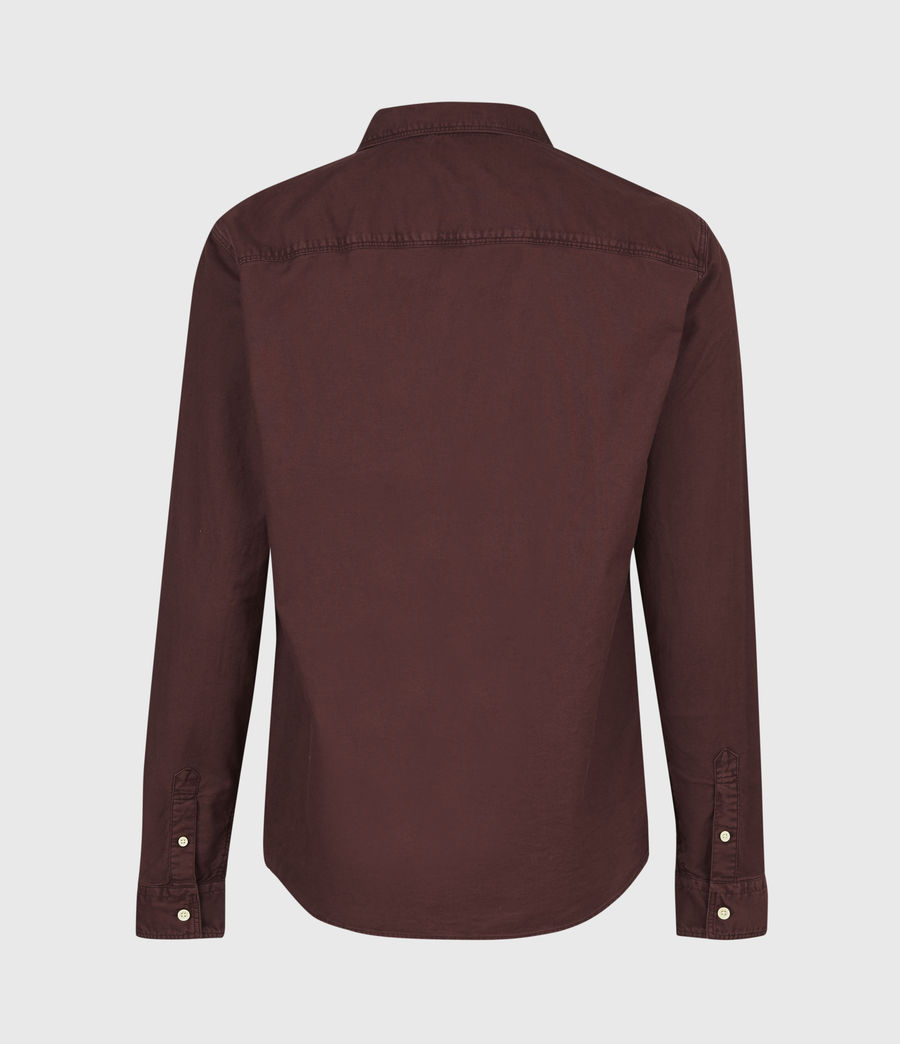 Mens Huntingdon Long Sleeve Shirt (burnt_sienna) - Image 3