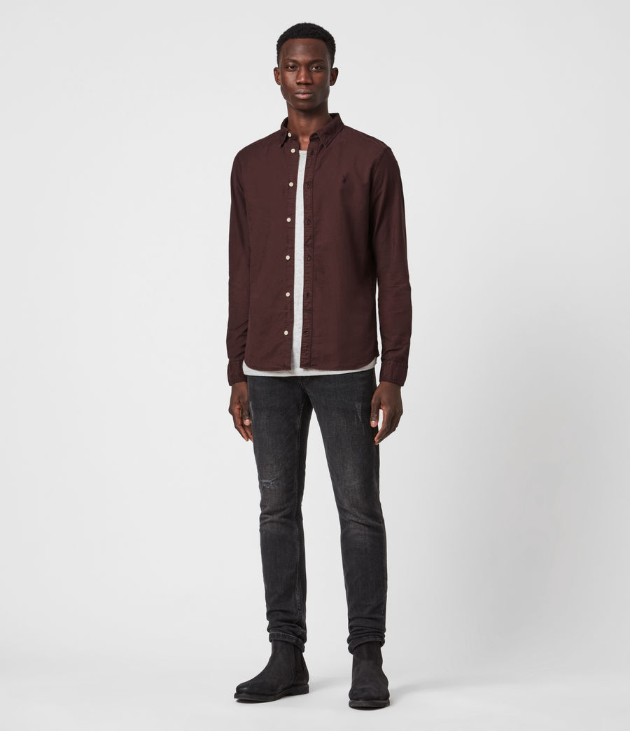Mens Huntingdon Long Sleeve Shirt (burnt_sienna) - Image 4
