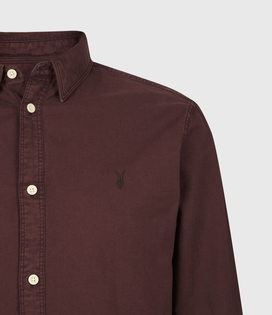 Mens Huntingdon Long Sleeve Shirt (burnt_sienna) - Image 5