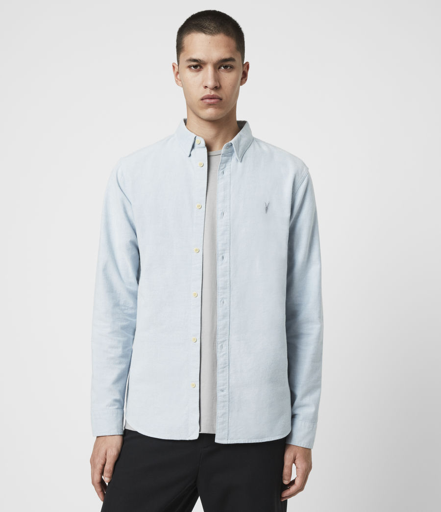 Mens Huntingdon Long Sleeve Shirt (light_blue) - Image 13