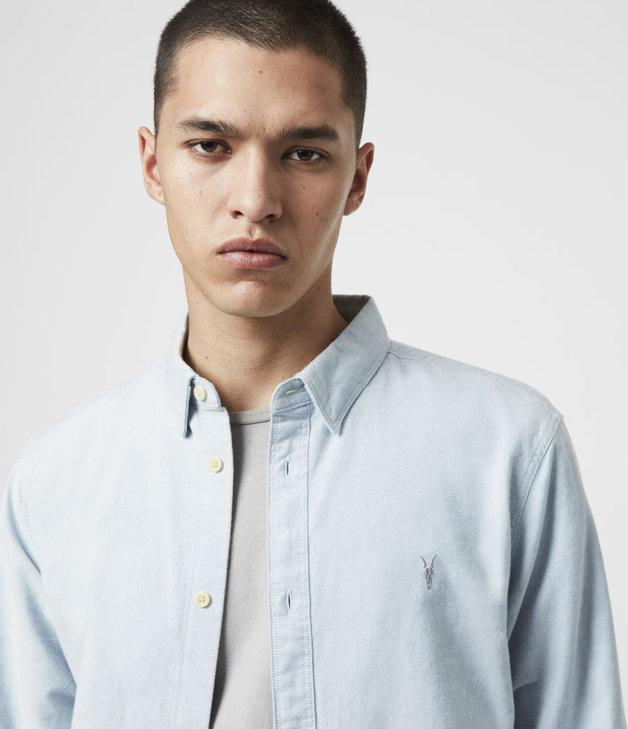 Mens Huntingdon Long Sleeve Shirt (light_blue) - Image 14