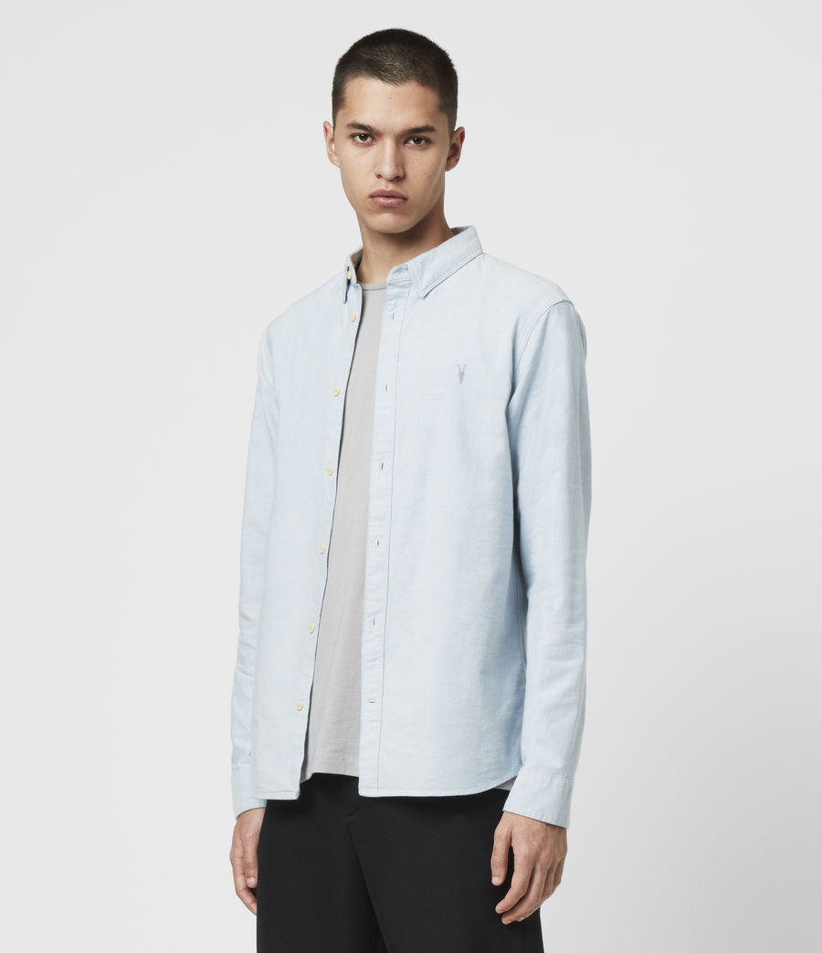Mens Huntingdon Long Sleeve Shirt (light_blue) - Image 4