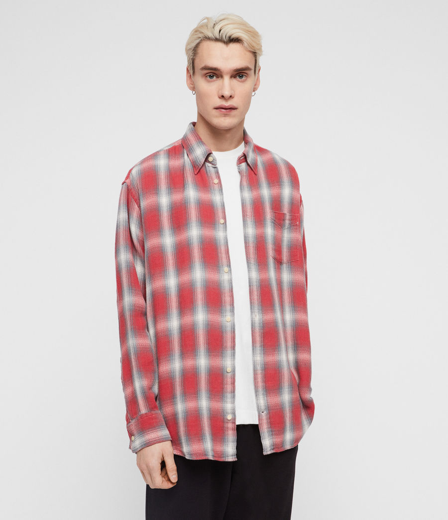 Mens Mannix Shirt (red) - Image 1
