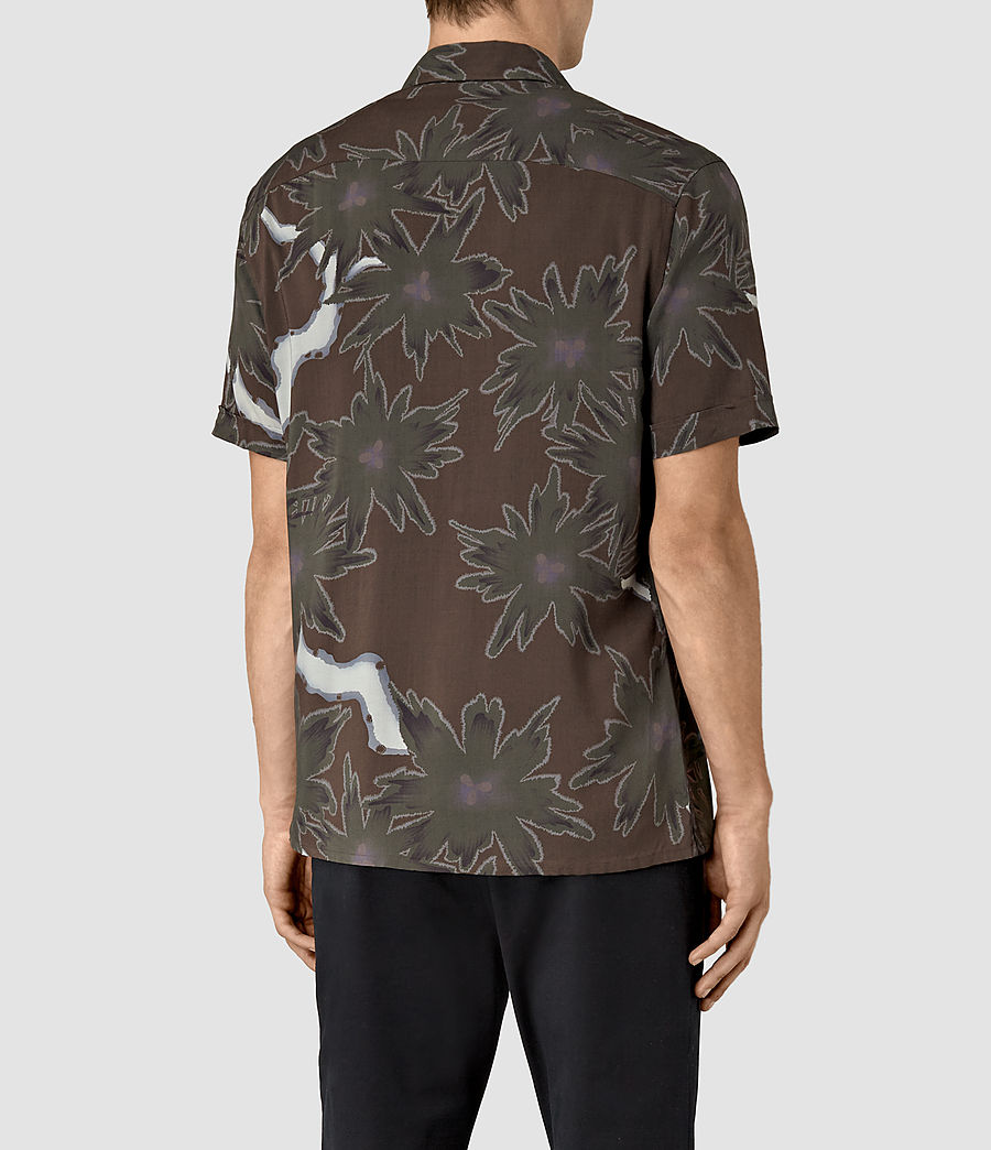 Mens Zapata Short Sleeve Shirt (brown) - Image 3