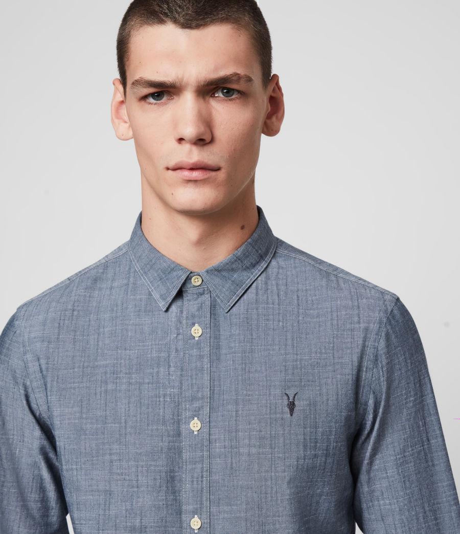 Mens Delancey Shirt (indigo_chambray) - Image 2