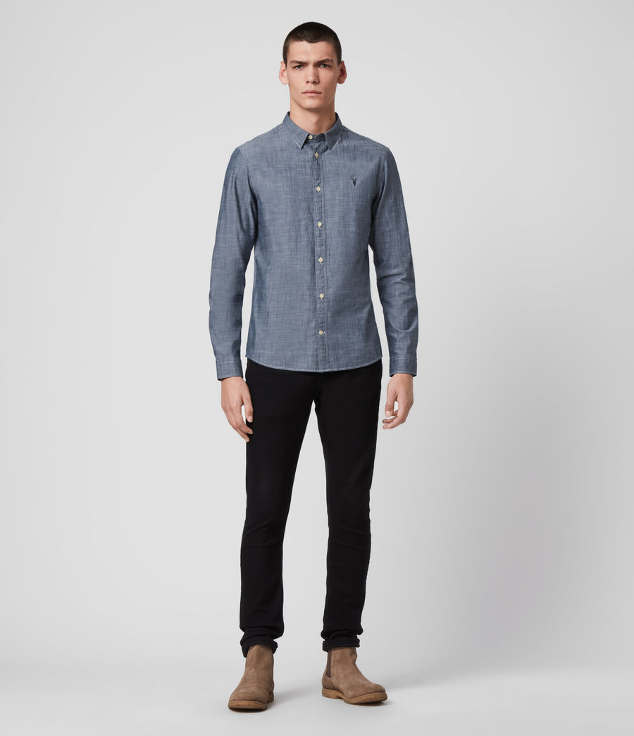 Mens Delancey Shirt (indigo_chambray) - Image 3