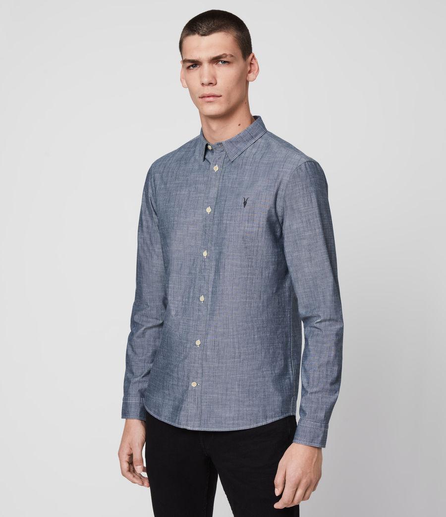 Mens Delancey Shirt (indigo_chambray) - Image 4
