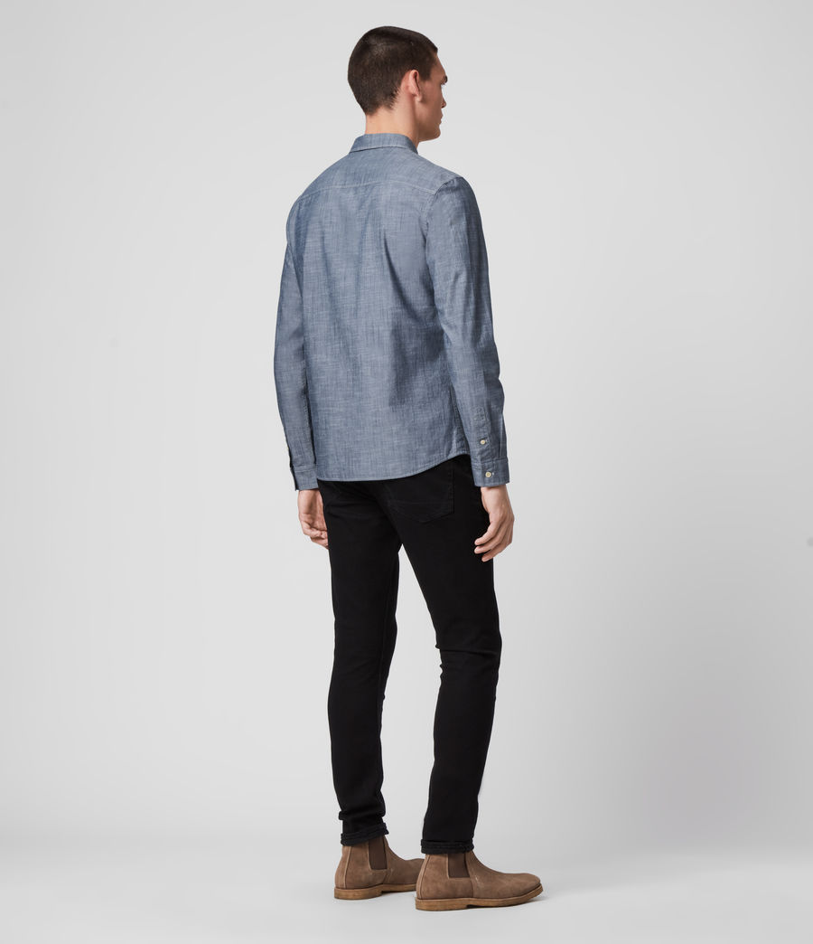 Mens Delancey Shirt (indigo_chambray) - Image 5