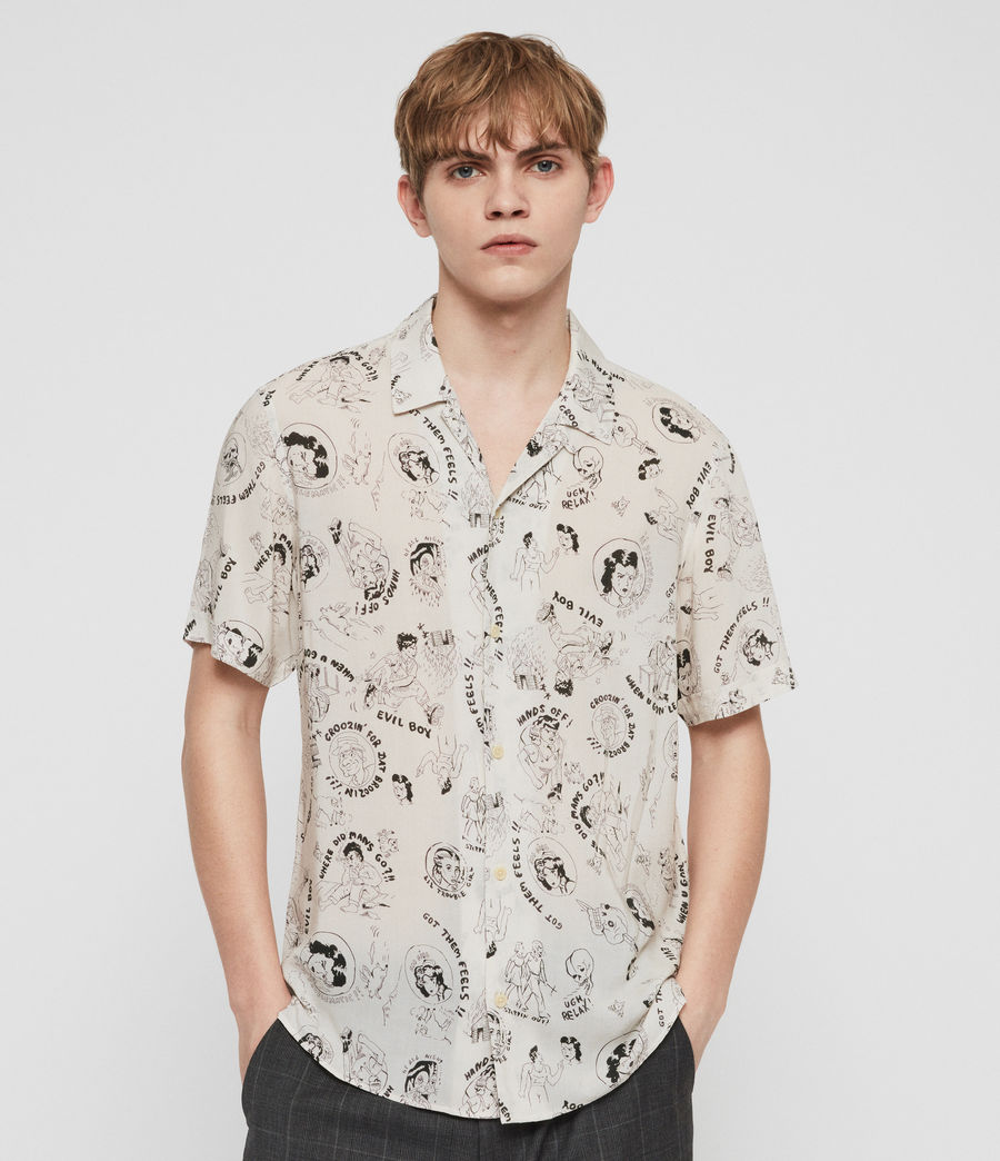 Men's Feels Shirt (ecru) - Image 1