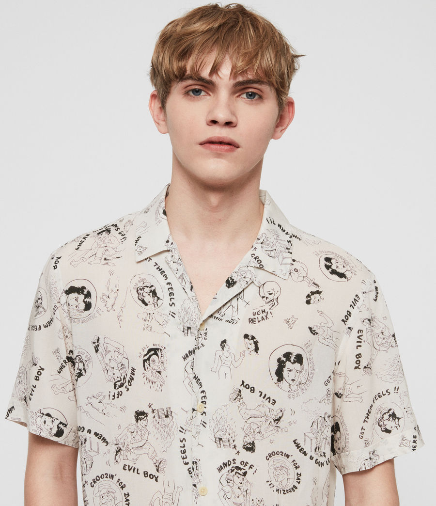 Mens Feels Shirt (ecru) - Image 3