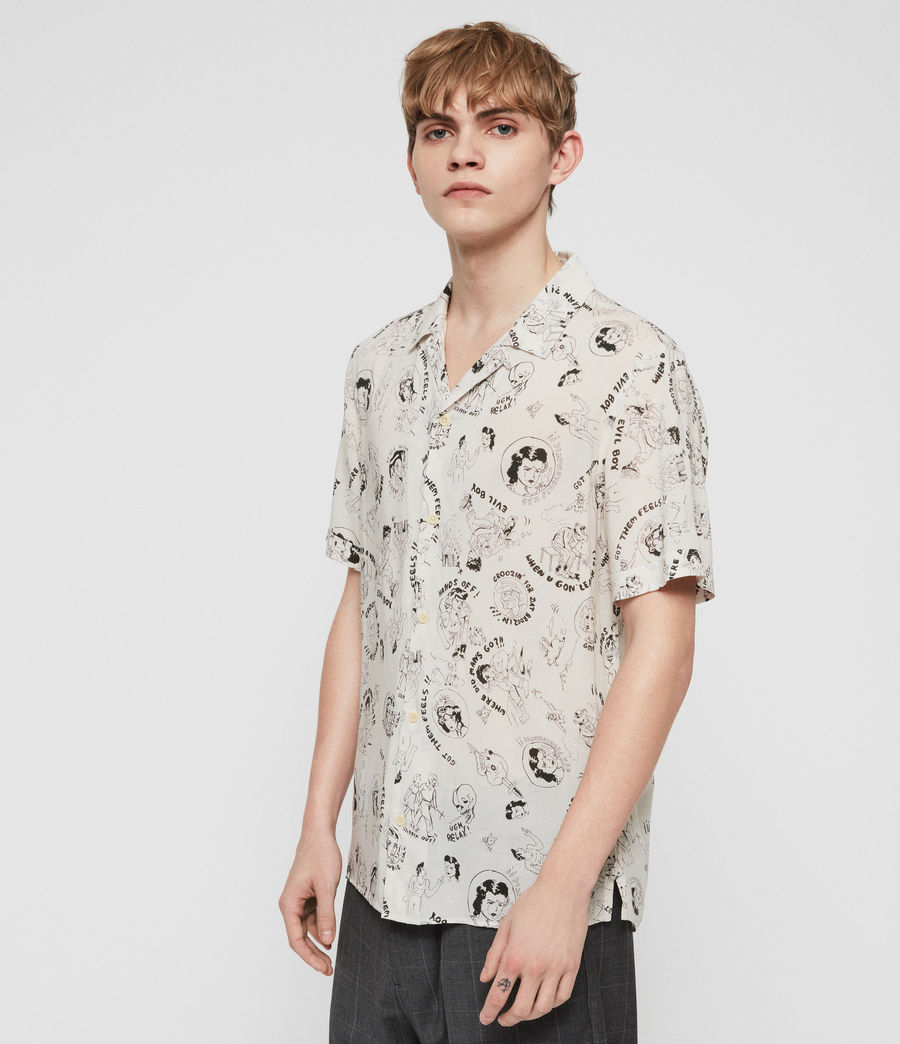 Mens Feels Shirt (ecru) - Image 4