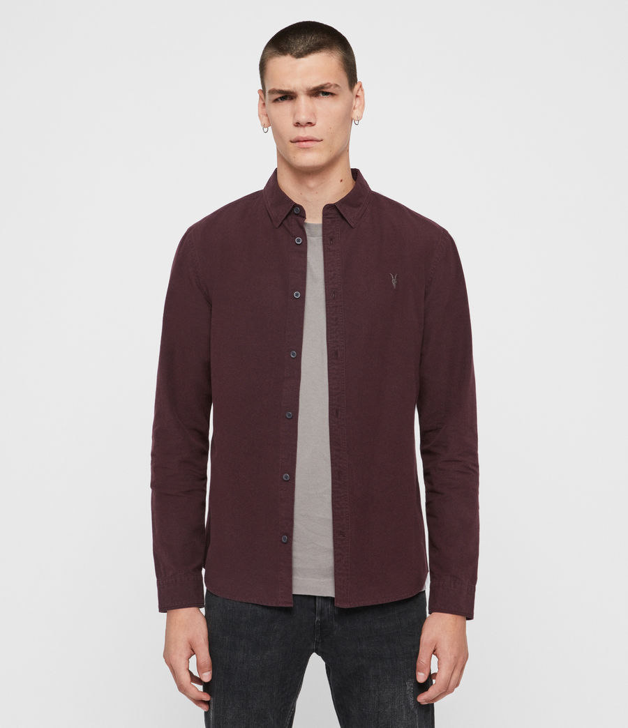 Men's Sulzer Shirt (oxblood_red) - Image 1