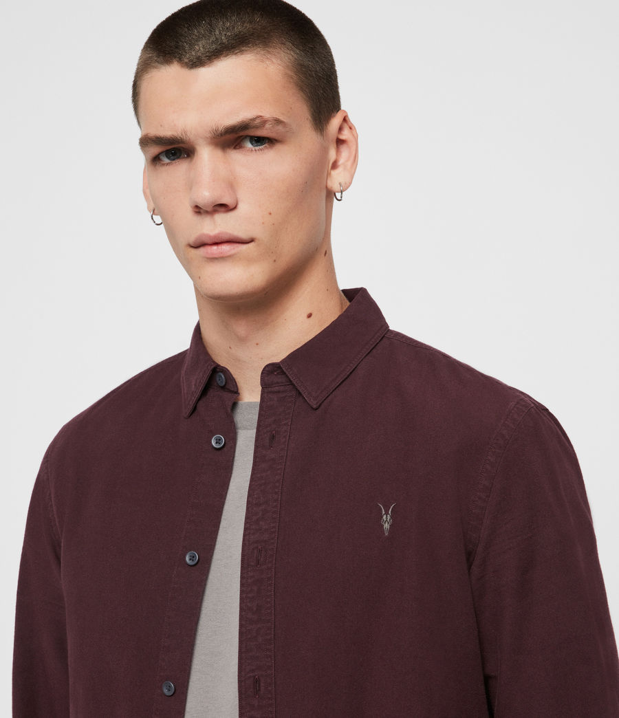 Men's Sulzer Shirt (oxblood_red) - Image 2