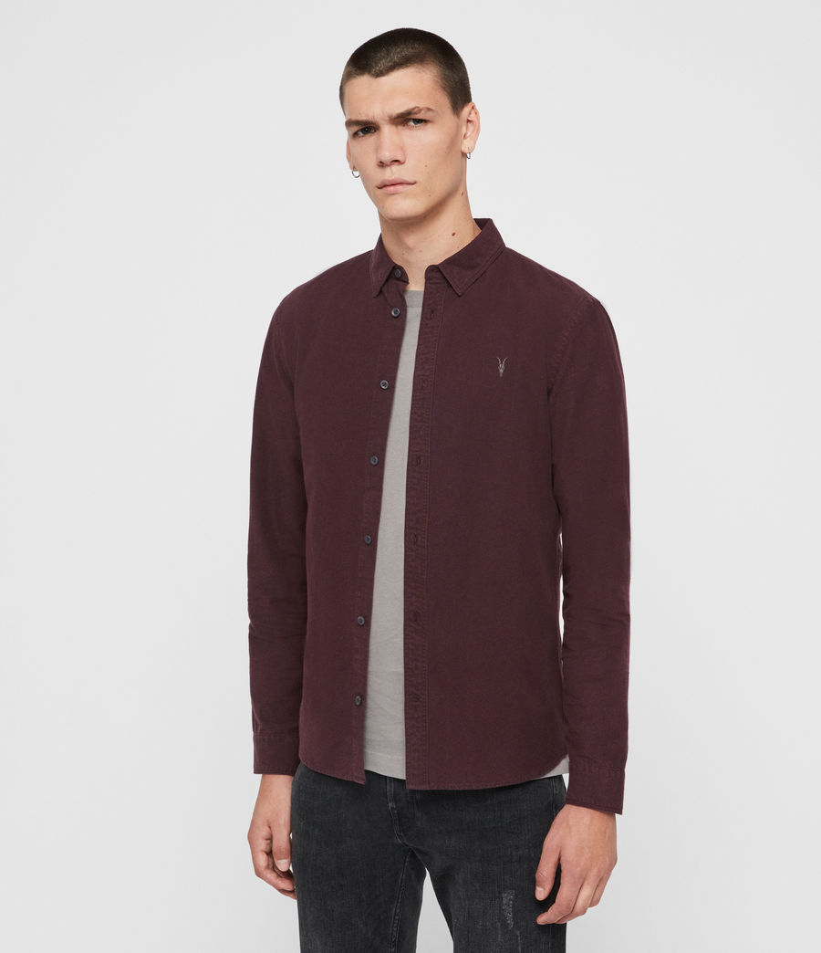 Men's Sulzer Shirt (oxblood_red) - Image 3