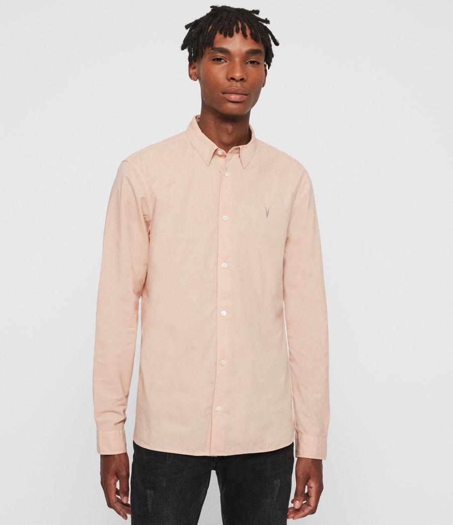 Hombres Camisa de Manga Larga Prospect (pink) - Image 1
