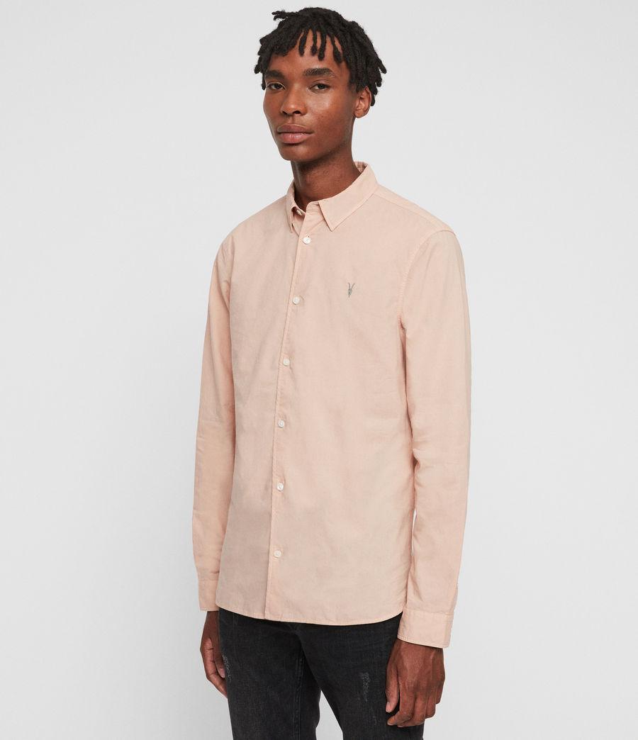 Hombres Camisa de Manga Larga Prospect (pink) - Image 4