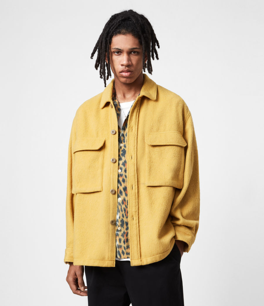 Mens Colton Shirt (yellow) - Image 1
