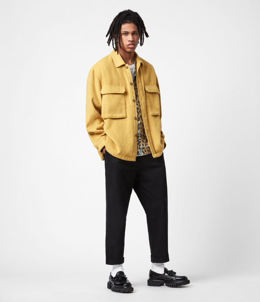 Mens Colton Shirt (yellow) - Image 8